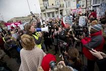 Stand up to UKIP protest outside UKIP Spring Conference. Margate, Kent. - Jess Hurd - 2010s,2015,activist,activists,Anti Racism,anti racist,BAME,BAMEs,black,BME,bmes,CAMPAIGN,campaigner,campaigners,CAMPAIGNING,CAMPAIGNS,cultural,DEMONSTRATING,Demonstration,DEMONSTRATIONS,diversity,ethn