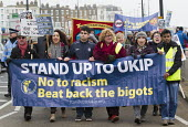 Stand up to UKIP protest outside UKIP Spring Conference. Margate, Kent. - Jess Hurd - 2010s,2015,activist,activists,Anti Racism,anti racist,banner,banners,CAMPAIGN,campaigner,campaigners,CAMPAIGNING,CAMPAIGNS,councils,DEMONSTRATING,Demonstration,DEMONSTRATIONS,eurosceptic,Euroscepticis