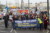 Stand up to UKIP protest outside UKIP Spring Conference. Margate, Kent. - Jess Hurd - 2010s,2015,activist,activists,Anti Racism,anti racist,BAME,BAMEs,banner,banners,black,BME,bmes,CAMPAIGN,campaigner,campaigners,CAMPAIGNING,CAMPAIGNS,councils,cultural,DEMONSTRATING,Demonstration,DEMON