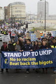 Stand up to UKIP protest outside UKIP Spring Conference. Margate, Kent. - Jess Hurd - ,2010s,2015,activist,activists,Anti Racism,anti racist,BAME,BAMEs,black,BME,bmes,CAMPAIGN,campaigner,campaigners,CAMPAIGNING,CAMPAIGNS,cultural,DEMONSTRATING,Demonstration,DEMONSTRATIONS,diversity,eth