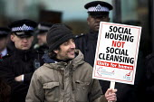 Block the Budget. We demand social housing not social cleansing! Protest outside City Hall demanding decent, low cost affordable housing in London. - Jess Hurd - 23-02-2015