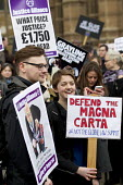 Defend the Magna Carta. Justice Alliance, Relay for Rights along the Thames from Runnymede, the birthplace of the Magna Carta to the Global Law Summit. Against cuts to legal aid. London. - Jess Hurd - 23-02-2015