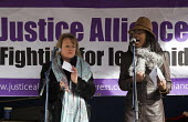 Deborah Coles and Marcia Rigg. Defend the Magna Carta. Justice Alliance, Relay for Rights along the Thames from Runnymede, the birthplace of the Magna Carta to the Global Law Summit. Against cuts to l... - Jess Hurd - 23-02-2015