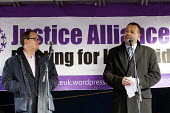 Paul Nowak TUC and Ian Lawrence NAPO. Defend the Magna Carta. Justice Alliance, Relay for Rights along the Thames from Runnymede, the birthplace of the Magna Carta to the Global Law Summit. Against cu... - Jess Hurd - 23-02-2015