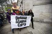 Defend the Magna Carta. Justice Alliance, Relay for Rights along the Thames from Runnymede, the birthplace of the Magna Carta to the Global Law Summit. Against cuts to legal aid. London. - Jess Hurd - 2010s,2015,activist,activists,Against,Austerity Cuts,banner,banners,birthplace,CAMPAIGN,campaigner,campaigners,CAMPAIGNING,CAMPAIGNS,Chris,cuts,DEMONSTRATING,Demonstration,DEMONSTRATIONS,FEMALE,Grayli