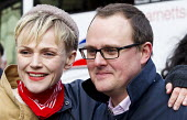 Paul Nowak TUC and Maxine Peake. Defend the Magna Carta. Justice Alliance, Relay for Rights along the Thames from Runnymede, the birthplace of the Magna Carta to the Global Law Summit. Against cuts to... - Jess Hurd - 23-02-2015