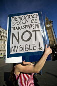 Democracy should be transparent not invisible. Time to Act! Climate Change National Demonstration. London. - Jess Hurd - 07-03-2015