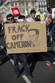 Frack off Cameron.Time to Act! Climate Change National Demonstration. London. - Jess Hurd - 2010s,2015,activist,activists,CAMPAIGN,campaigner,campaigners,CAMPAIGNING,CAMPAIGNS,Climate Change,DEMONSTRATING,Demonstration,DEMONSTRATIONS,environment,environmental,Fracking,Global Warming,OCCUPATI