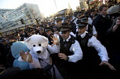 Police and Polar bear, Time to Act! Climate Change National Demonstration. London. - Jess Hurd - 07-03-2015