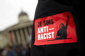Je Suis anti racist sticker. Stand up to racism & fascism, national demonstration. London. - Jess Hurd - 22-03-2015