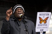 Weyman Bennett UAF. Stand up to racism & fascism, national demonstration. London. - Jess Hurd - 21-03-2015