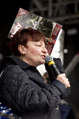 Christine Blower NUT. Stand up to racism & fascism, national demonstration. London. - Jess Hurd - 21-03-2015