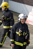 Sian Griffiths, White Watch Manager. Retiring after 30 years and one of the first LFB female firefighters. Road Traffic Accident training at Paddington Fire Station. London. - Jess Hurd - 2010s,2015,Accident,accidental,ACCIDENTS,adult,adults,boss,bosses,cities,city,commander,commanders,Crew,employee,employees,Employment,FEMALE,Fire,Fire Brigade,firefighter,firefighters,fireman,firemen,