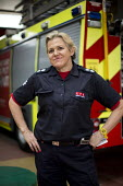 Sian Griffiths, White Watch Manager. Retiring after 30 years and one of the first LFB female firefighters. Paddington Fire Station. London. - Jess Hurd - 17-03-2015