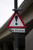 Fire station warning sign. Paddington Fire Station. London. - Jess Hurd - 24-03-2015