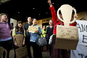 Alternative Awards, occupation of the year. Social housing and anti-gentrification campaigners disrupt the annual Property Awards attended by luxury property development companies. Grovesnor Hotel, Pa... - Jess Hurd - 22-04-2015