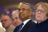Lutfur Rahman flanked by Andrew Murray, Unite and Lindsey German, Stop The War. Defend Democracy in Tower Hamlets. Community leaders speak out against the removal of Tower Hamlets, Mayor Lutfur Rahman... - Jess Hurd - 30-04-2015