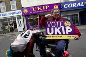 UKIP election campaigning for Nigel Farage in Thanet. - Jess Hurd - 2010s,2015,campaign,campaigning,CAMPAIGNS,CANVASING,canvassing,communicating,communication,DEMOCRACY,disabilities,disability,disable,disabled,disablement,election,elections,eurosceptic,Euroscepticism,