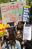 Everyone liked Hitler at first. No to UKIP campaigners, campaigning against Nigel Farage. Thanet. - Jess Hurd - 2010s,2015,activist,activists,against,anti,Anti Racism,anti racist,campaign,campaigner,campaigners,campaigning,CAMPAIGNS,DEMOCRACY,DEMONSTRATING,Demonstration,DEMONSTRATIONS,Diaspora,election,election