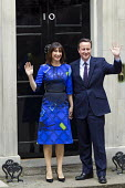 David Cameron and Samantha Cameron, as he announces his majority government after winning the General Election. Downing Street, London. - Jess Hurd - 08-05-2015