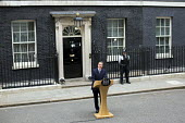 David Cameron announces his majority government after winning the General Election. Downing Street, London. - Jess Hurd - 08-05-2015