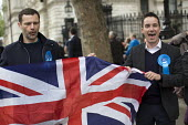 Tory supporters as David Cameron announces his majority government after winning the General Election. Downing Street, London. - Jess Hurd - 08-05-2015