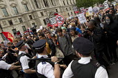 Anti austerity protests on the day of the Queens Speech and opening of Parliament. Whitehall, London. - Jess Hurd - against,anti,Austerity Cuts,CLJ,Police,Officer,officers,policeman,policemen,policing,Protest,Demonstration,metropolitan police service,2015,2010s
