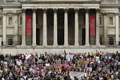 Anti austerity protests on the day of the Queens Speech and opening of Parliament. Trafalgar Square, London. - Jess Hurd - 27-05-2015