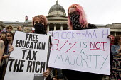 Free education Tax the Rich, Anti austerity protests on the day of the Queens Speech and opening of Parliament. Trafalgar Square. London. - Jess Hurd - 27-05-2015