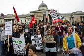 Anti austerity protests on the day of the Queens Speech and opening of Parliament. Trafalgar Square. London. - Jess Hurd - against,anti,Austerity Cuts,Free Speech,Protest,Demonstration,student,students,2015,2010s