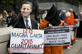 Magna Carta Day - Save Shaker Aamer, Whitehall. London. - Jess Hurd - 15-06-2015
