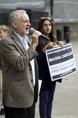 Jeremy Corbyn MP. Magna Carta Day - Save Shaker Aamer, Whitehall. London. - Jess Hurd - 2010s,2015,activist,activists,against,anti,Asylum Seeker,Asylum Seeker,CAMPAIGN,campaigner,campaigners,CAMPAIGNING,CAMPAIGNS,candidate,candidates,DEMONSTRATING,Demonstration,DEMONSTRATIONS,detained,de