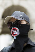 NetPol face masks to combat police surveillance, The Privacy Block. Peoples Assembly Against Austerity protest against cuts in anti-austerity march. London. - Jess Hurd - 20-06-2015