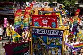 Equity banners Pride in London Parade 2015 - Jess Hurd - 27-06-2015