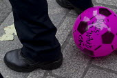 Balls To The Budget, Disabled People Against Cuts throwing balls at Downing Street as George Osborne leaves to deliver his budget to Parliament, Westminster, London - Jess Hurd - (DPAC),2010s,2015,activist,activists,Against,austerity,Austerity Cuts,Balls,CAMPAIGN,campaigner,campaigners,CAMPAIGNING,CAMPAIGNS,civil disobedience,Cuts,deliver,DEMONSTRATING,Demonstration,DEMONSTRAT