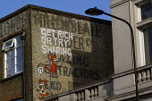 Get Rich Or Try Sharing. Camden graffiti. Camden. London. - Jess Hurd - 2010s,2015,activist,activists,AFFLUENCE,AFFLUENT,Bourgeoisie,CAMPAIGN,campaigner,campaigners,CAMPAIGNING,CAMPAIGNS,cities,City,Communism,Communist,communists,DEMONSTRATING,Demonstration,DEMONSTRATIONS