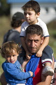 Refugees using the Beremend, Hungarian border crossing. Hungary. - Jess Hurd - 19-09-2015