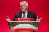 Carwyn Jones MP speaking at Labour Party Conference Brighton. - Jess Hurd - 27-09-2015
