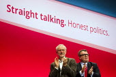 Jeremy Corbyn MP, leader with Tom Watson MP. Labour Party Conference Brighton. - Jess Hurd - 27-09-2015