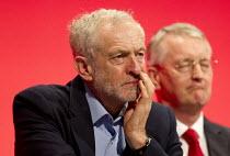 Jeremy Corbyn and Hilary Benn MP. Labour Party Conference, Brighton. - Jess Hurd - 28-09-2015