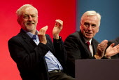 Jeremy Corbyn and John McDonnell MP. Labour Party Conference, Brighton. - Jess Hurd - 2010s,2015,applauding,applause,conference,conferences,EMOTION,EMOTIONAL,EMOTIONS,Jeremy Corbyn,Labour Party,Party,POL,political,POLITICIAN,POLITICIANS,Politics,smile,SMILES,smiling,WELLBEING