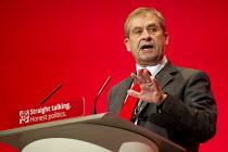John Hannett USDAW speaking Labour Party Conference, Brighton. - Jess Hurd - 28-09-2015