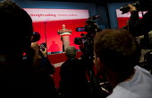 Jeremy Corbyn speaking, Labour Party Conference, Brighton. - Jess Hurd - ,2010s,2015,applauding,applause,camera,cameras,communicating,communication,conference,conferences,Jeremy Corbyn,Labour Party,media,MP,MPs,Party,photographer,photographers,photojournalist,photojournali