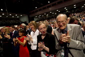 Applause for Jeremy Corbyn speaking at Labour Party Conference, Brighton. - Jess Hurd - 2010s,2015,Conference,conferences,Margaret Beckett,Party,POL,political,POLITICIAN,POLITICIANS,Politics,SPEAKER,SPEAKERS,speaking,SPEECH