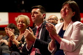 Rosie Winterton MP, Andy Burnham MP, Lucy Powell MP Labour Party Conference Brighton. - Jess Hurd - 30-09-2015