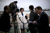 Frances OGrady, TUC Gen Sec interviewed by the media. TUC conference Brighton. - Jess Hurd - 13-09-2015