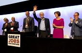 Leslie Manasseh Pres Prospect, Jeremy Corbyn MP, newly elected Leader of the Labour Party Frances O'Grady, Paul Nowak TUC conference, Brighton. - Jess Hurd - 15-09-2015