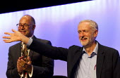 Leslie Manasseh Pres Prospect, Jeremy Corbyn MP, newly elected Leader of the Labour Party speaking TUC conference, Brighton. - Jess Hurd - 15-09-2015