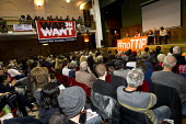 John McDonnell MP speaking at Rise up against TTIP rally, Conway Hall. Organised by Friends of the Earth, Global Justice Now & War on Want. London. - Jess Hurd - 10-10-2015