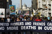 Marcia Rigg, sister of Sean Rigg. United Friends and Family Campaign against deaths in police custody. Whitehall, London. - Jess Hurd - 31-10-2015